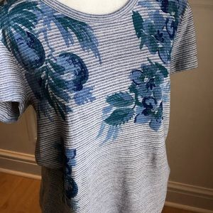 Beautiful new lucky brand striped floral print top